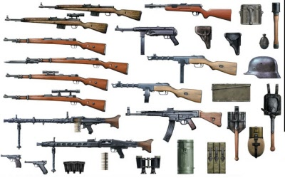 The weapons in world war two varied from country to country ...